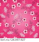 Купить «Цветочный розовый бесшовный фон», иллюстрация № 24097927 (c) Ольга Дроздова / Фотобанк Лори