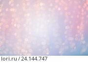 Купить «blurred rose quartz and serenity lights bokeh», фото № 24144747, снято 8 октября 2015 г. (c) Syda Productions / Фотобанк Лори