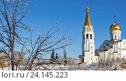 Купить «Самара. Церковь святой Татьяны в зимний солнечный день», видеоролик № 24145223, снято 4 ноября 2016 г. (c) FotograFF / Фотобанк Лори