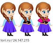 Купить «Принцесса Анна (ребёнок) рисованный персонаж», иллюстрация № 24147215 (c) Jane Miau / Фотобанк Лори