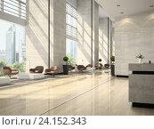 Купить «Интерьер отеля. 3D Иллюстрация», иллюстрация № 24152343 (c) Hemul / Фотобанк Лори