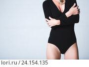 Женщина в чёрном боди. Стоковое фото, фотограф Pavel Ivanov / Фотобанк Лори