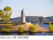 Купить «Старый маяк на Волге», фото № 24164899, снято 25 июля 2012 г. (c) Дудакова / Фотобанк Лори