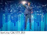 Купить «Man in stock trading business concept», фото № 24177351, снято 21 сентября 2019 г. (c) Elnur / Фотобанк Лори