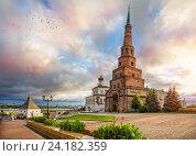 Купить «Казанский Кремль, башня Сююмбике», фото № 24182359, снято 22 июля 2015 г. (c) Baturina Yuliya / Фотобанк Лори