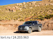 Купить «Volkswagen Amarok», фото № 24203963, снято 16 ноября 2015 г. (c) Art Konovalov / Фотобанк Лори