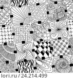 Купить «Абстрактный монохромный фон», иллюстрация № 24214499 (c) Коваленкова Ольга / Фотобанк Лори