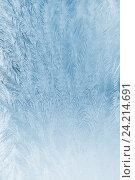 Купить «Морозный узор на стекле», фото № 24214691, снято 12 ноября 2016 г. (c) Икан Леонид / Фотобанк Лори