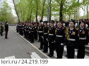 Купить «Парад в кадетском корпусе», фото № 24219199, снято 28 апреля 2014 г. (c) Free Wind / Фотобанк Лори