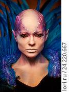 Купить «Creative makeup. Woman from space concept.», фото № 24220667, снято 6 ноября 2016 г. (c) Andrejs Pidjass / Фотобанк Лори