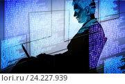 Купить «Hacker in digital security concept», фото № 24227939, снято 28 июня 2016 г. (c) Elnur / Фотобанк Лори