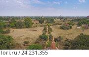 Купить «Храмы в Багане, Мьянма (Бирма) 4k», видеоролик № 24231355, снято 8 апреля 2016 г. (c) Михаил Коханчиков / Фотобанк Лори