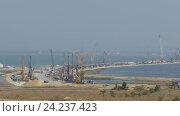 Строительство моста через Керченский пролив (2016 год). Редакционное видео, видеограф Михаил Коханчиков / Фотобанк Лори