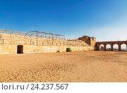 Купить «The Roman Circus or Hippodrome in Jerash, Jordan», фото № 24237567, снято 3 ноября 2016 г. (c) Наталья Волкова / Фотобанк Лори