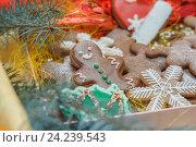 Купить «Праздничные пряники (Новый год и Рождество)», фото № 24239543, снято 11 ноября 2016 г. (c) Краснова Ирина / Фотобанк Лори
