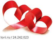 Купить «Сердечки из красной ленты», фото № 24242023, снято 22 ноября 2013 г. (c) Иван Михайлов / Фотобанк Лори