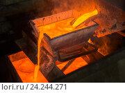 Купить «Выплавка золота на заводе», фото № 24244271, снято 13 ноября 2016 г. (c) Mark Agnor / Фотобанк Лори