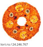 Купить «Сладкая фруктовая пастила круглой формы на белом фоне», фото № 24246767, снято 20 ноября 2016 г. (c) V.Ivantsov / Фотобанк Лори