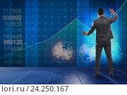 Купить «Man in stock trading business concept», фото № 24250167, снято 4 апреля 2020 г. (c) Elnur / Фотобанк Лори
