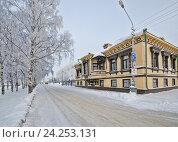 Купить «Особняк Суркова в городе Архангельск», фото № 24253131, снято 24 января 2016 г. (c) Яковлев Сергей / Фотобанк Лори