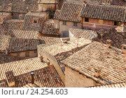 Купить «Крыши старых домов. Урбино. Италия, Марке», фото № 24254603, снято 9 сентября 2016 г. (c) Николай Коржов / Фотобанк Лори