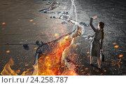 Купить «Overcoming crisis break . Mixed media», фото № 24258787, снято 22 февраля 2019 г. (c) Sergey Nivens / Фотобанк Лори