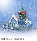 Купить «Christmas decorations», фото № 24262039, снято 21 января 2014 г. (c) ElenArt / Фотобанк Лори