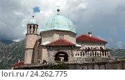Купить «Здание церкви Божьей Матери, построенное в византийском стиле. Остров Госпа-од-Шкрпьела. Которский залив. Черногория», видеоролик № 24262775, снято 20 ноября 2016 г. (c) Кекяляйнен Андрей / Фотобанк Лори