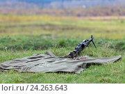 Купить «Пулемет», фото № 24263643, снято 10 октября 2012 г. (c) Игорь Долгов / Фотобанк Лори