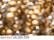 Купить «golden christmas decoration or garland lights», фото № 24265599, снято 3 ноября 2016 г. (c) Syda Productions / Фотобанк Лори