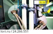 Производство тентового материала ПВХ. Автоматизированное производство в Европе. Стоковое видео, видеограф Бубнов Дмитрий / Фотобанк Лори