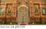 Купить «Санкт-Петербург. Царские врата и иконостас Спаса-на-Крови», эксклюзивное фото № 24269539, снято 6 апреля 2013 г. (c) Александр Алексеев / Фотобанк Лори