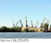 Купить «Самара. Грузовой порт», фото № 24275675, снято 6 июня 2010 г. (c) Светлана Кириллова / Фотобанк Лори
