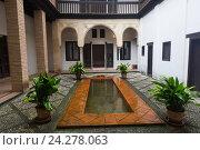 Court of home of Hernan Lopez el Feri. Granada, Spain (2016 год). Стоковое фото, фотограф Яков Филимонов / Фотобанк Лори