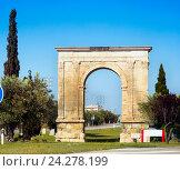 Купить «Triumphal arch The Arc de Bera», фото № 24278199, снято 16 мая 2016 г. (c) Яков Филимонов / Фотобанк Лори