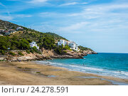 Побережье Балеарского моря, Испания. Стоковое фото, фотограф Елена Корнеева / Фотобанк Лори