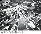 Осколки стекла на белом фоне. Стоковая иллюстрация, иллюстратор Арсений Герасименко / Фотобанк Лори