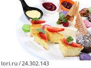 Тарелка с десертами. Стоковое фото, фотограф Воронина Светлана / Фотобанк Лори