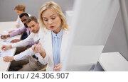 Купить «business team at presentation in office», видеоролик № 24306907, снято 14 октября 2016 г. (c) Syda Productions / Фотобанк Лори