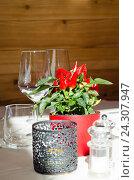 Украшение стола в ресторане. Стоковое фото, фотограф Добыш Александр / Фотобанк Лори