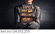 Купить «Realize your interior dream . Mixed media», фото № 24312215, снято 4 октября 2014 г. (c) Sergey Nivens / Фотобанк Лори