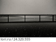 Купить «Autobridge over of a lake with thick snow beating out, symmetrically, with mirroring, strong contrasts», фото № 24320555, снято 2 апреля 2015 г. (c) mauritius images / Фотобанк Лори