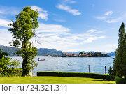 Купить «View on Isola Bella (Borromean Islands) in the Lago Maggiore, Stresa, Piedmont, Italy», фото № 24321311, снято 21 августа 2018 г. (c) mauritius images / Фотобанк Лори