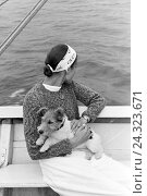 Купить «Frau mit Hund an Bord eines Segelboots auf der Ostsee, Deutschland 1930er Jahre. Woman with a dog on board of a sailing boat on the Baltic Sea, Germany 1930s», фото № 24323671, снято 17 августа 2018 г. (c) mauritius images / Фотобанк Лори