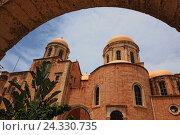 Купить «Crete, peninsula Akrotiri, Moni Agada Triada, cloister the Holy Trinity, part the dome church», фото № 24330735, снято 21 мая 2015 г. (c) mauritius images / Фотобанк Лори