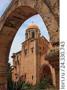 Купить «Crete, peninsula Akrotiri, Moni Agada Triada, cloister the Holy Trinity, part the dome church», фото № 24330743, снято 21 мая 2015 г. (c) mauritius images / Фотобанк Лори