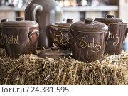Купить «Vessels from stoneware», фото № 24331595, снято 15 сентября 2012 г. (c) mauritius images / Фотобанк Лори