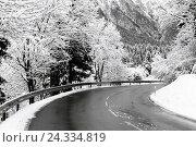 Купить «Federal highway, no snow», фото № 24334819, снято 23 апреля 2018 г. (c) mauritius images / Фотобанк Лори