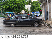 Купить «The old-timer which is repaired on the street, historical Old Town by Havana, Habana Vieja, Cuba, the Greater Antilles, the Caribbean, Central America, America», фото № 24338735, снято 5 декабря 2015 г. (c) mauritius images / Фотобанк Лори
