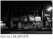 Купить «LA Noir: Downtown Los Angeles at Night - Arcade Marquee on Broadway», фото № 24347875, снято 25 мая 2018 г. (c) mauritius images / Фотобанк Лори